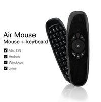 C120 T10 Controle remoto do mouse do teclado do mouse do jogo com receptor USB Microfone Voice Mini Wireless 2.4GHz Mouse para Smart Tv BOX Keyboard