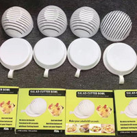 Wholesale Plastic Accessories For Kitchen - Salad Cutter Bowl Cooking Cutters 60 Second Fruit Vegetable Bowls Tools Quick Washer Chopper Tools for Kitchen Accessories 8 2mw1
