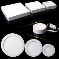 Led Luces del Panel Regulable 9W 15W 25W CREE Montaje en Superficie Led Downlights Blanco Frío Blanco cálido Redondo Cuadrado 110V 220V