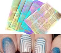 Wholesale Nail Art Transfer Stickers D Design Manicure Tips Decal Decoration Tool Nail Art Templates