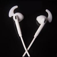 weißer apfel entfernt großhandel-S7 kopfhörer mit mikrofon 3,5 mm kabelgebundene kopfhörer tragbare sport lauf stereo kopfhörer fernbedienung mit schwarzer oder weißer farbe