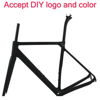 Wholesale Carbon Road Bike Frames China - T1100 white road bike carbon frame 1k  3k bicycle carbon bike frameset 165 169 170 905 906 color fremseet made in china free shipping