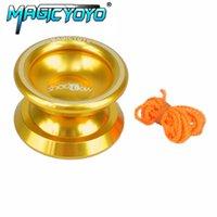 cuerdas de yoyo al por mayor-MAGICYOYO yoyo Professional Yo-Yo Balls Versión mejorada T8 Alloy Aluminium yoyo con cuerdas juguetes clásicos para niños