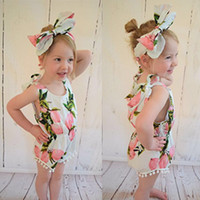 Wholesale Baby Girl Year Outfits - Girls Lemon Romper & Headband Outfit Boutique Kids Toddler & Newborn Baby Girl Clothes Sets For 0-3 Years Old