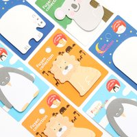 Wholesale Penguin Note - Wholesale- 1 Pcs Cute Kawaii Korean Japanese Animal Lion Penguin Sticky Notes Post It Memo Pad Paper Kids School Office Supplies Statione