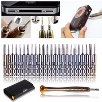 Wholesale Ip Cellphone - 2017 new design 25 in 1 cellphone Repair Pry Tool Kit Opening Tools Star Torx Pentalobe Screwdriver for iP 4 4S 5 5S Mobile cellphone