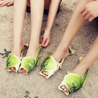 Wholesale Type Shoes For Women - Emulational Fish Style Soft Sandals Beach Slippers Casual Shoes for Women Men Family Slippers Creative Type Handmade Personality Fish Hot