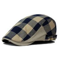 Wholesale newsboy hats men - Wholesale-Summer and Autumn men's fashion Octagonal Cap Newsboy cap ladies Beret Hat Flat Caps men vintage cotton Beret hats for women
