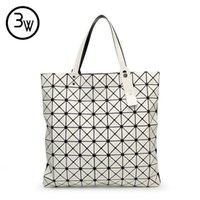 Wholesale Sequin Fold - Wholesale- High Quality Fashion BAOBAO Bag Geometry Clutches Sequins Laser Plain Folding Bags Designer Handbags Women Famous Brands bolsos