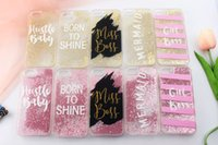 Wholesale Steel Phone Cases - Fashion Sexy Girl Graffiti Letter Diamond case Steel ball High Quality Soft TPU Rhinestone Glitter Phone Cases For iphone 7 7Plus 6 6s Plus
