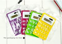Wholesale Mini Soft Keyboard - Portable Foldable Silicone Mini 8 Digital math Calculator scientific Calculator Solar Energy Soft keyboard Creative Magnetic adsorption