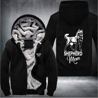 Wholesale Plush Shepherd - New style coat Hip hop style carton shepherd full hoodies Hooded Thick Winter Keep warm Hoodies Unisex plush cold-proof plus Size Sportswear