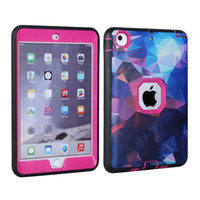 Dream Star Colorful Case Carcasa Shock Absorcing TPU Bumper con pantalla Pretector para iPad mini 1 2 3 BOLSA OPP
