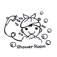 Wholesale Posters For Girls - Diy girl Toilet bathroom stickers wall sticker for kids rooms home decor creative home decoration accessories posters wall decal