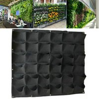 36 Tasche Outdoor Indoor Verticale Giardiniere Pianta Hanging Wall Flower Pots Piantare Borse Piantatrice Seedling Grow Container Bags