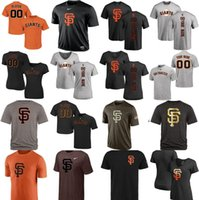 Wholesale Giants T Shirt - Factory Outlet 2017 Blank San Francisco Giants Mens Womens Youth Big&tall throwback V-neck Please leave any name any number T-Shirt Jerseys