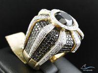 Wholesale Mens Red Diamond Rings - 3.20 Ct 14k Yellow Gold Mens Round Diamond Wedding Engagement Pinky Ring Band