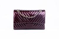 Wholesale Bright Leather Bags - 2017 NEW Wholesale female Handbags quality fashion Designers Women's PU Leather Burgundy Bright leather Free shipping #1119