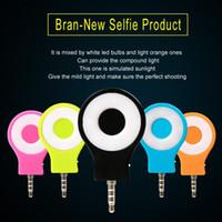 lanterna para telefone venda por atacado-Recarregável 8 led flash light up selfie mini selfie câmera sync lanterna telefone para iphone samsung htc sony lg