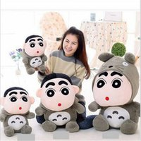 Wholesale Shin Chan Stuffed Toy - 35CM New Cartoon My Neighbor Totoro Crayon Shin Chan Cute Plush Toys Soft Kawaii Stuffed Animals Anime Kids Cat Toys Dolls Gifts