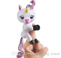 Wholesale Stuffed Gags - whosale New arrival Fingerlings Gigi Electronic Smart Touch the Unicorn Creative Intellegent Baby Finger Toy Gag Toy free shipping