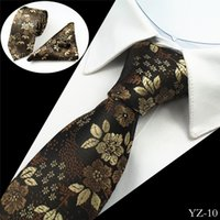Wholesale 2017 New neck tie set necktie Pocket square cufflinks men s ties polyester Paisley tie colors Gift boxes are individually packaged