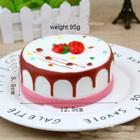 Wholesale The new style slow rising rare squishy jumbo round cake Toy Cake Squishy Slow Rising Cream Cake