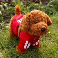 Wholesale Poodle Plush Toy - 30cm Height New Children Electronic Pet Talking Toys For Kids Plush Toy Robot Dog Flapping Ears Singing Poodle Baby Interactive Toy Dog