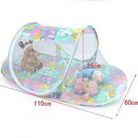 katlanır bebek yatakları toptan satış-Çok fonksiyonlu Yaz Bebek Katlama Nets Bebekler Sivrisinek Polyester Mesh Beşik Netleştirme Portatif Bebek Beşik cibinlik 3 Renkler Yatak
