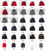 Wholesale Cotton Logo Hats - Hot Sale Factory Wholesale Free Shipping Fashion Brand Logo Winter Hat High Quality Wool Knitted Beanies Skully Hats cheap Brand beanie cap