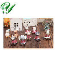 Wholesale Card Holder Zakka - animals place card holders Christmas decoration Zakka santa claus snowman elk table card stand resin photo standing holders baby shower gift