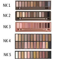 Wholesale Cases Brushes - Naked 12color Professional Makeup Eyeshadow Naked Palette 1 2 3 4 5 Naked Cosmetic Makeup Brush Smoky Eye Shadow Case Makeup Set