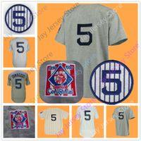 Wholesale Baseball Joe - Joe DiMaggio Jersey Cooperstown 1939 Grey Cream White Pinstripe Home Away Vintage