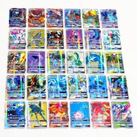 Wholesale Toys Games For Boy - Hot poke 100Pcs GX collection of cards cute EX card set Mega poke cards Toys English version for girls and boys games No repeat Kids Toys