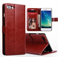 Wholesale leather back books - For Apple Iphone 7 plus 6S Genuine Luxury Stand PU Leather Wallet Case,Flip Folio Book Design TPU Back Cover for Samsung Galaxy S8 S7 S6edge