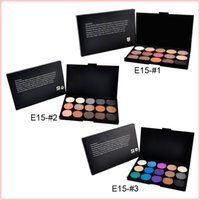 Wholesale Professional Makeup Foundation Palette - 15 Color Nude Smoky Pearl Eyeshadow Shimmer Eyeshadow Makeup Palette Set Professional Eye Shadow Foundation Makeup Tool Wholesale 0605101