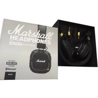 Wholesale Dj Usb Mp3 - Marshall Major II 2.0 Bluetooth Wireless Headphones in Black DJ Studio Headphones Deep Bass Noise Isolating headset for Samsung
