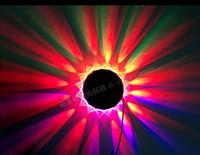 luces giratorias al por mayor-Venta al por mayor- 48 x Led luz de la lámpara de la etapa luz colorida giratoria del UFO del girasol KTV Control de sonido Control de la música luz de la etapa