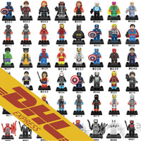 Wholesale Order Mini Toys - 480pcs lot Mix Order Minifig Marvel Super Heroes NEXO Knights The Avengers Bat Spiderman Iron Man Mini Building Blocks Figures Toy