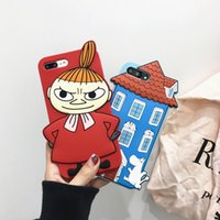 Wholesale Iphone O Case - Cartoon 3D Moomin&Scarecrow Silicone Rubber Case For iPhone 7 6 6s Plus Capinhas Para o Soft Tpu Back Cover Phone Cases 7 Plus