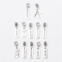 Wholesale Loose Charm Pendants - 30pcs Tibetan silver Big Hole Loose Beads European Pendant fit Pandora charm bracelet DIY Metal jewelry making JS115
