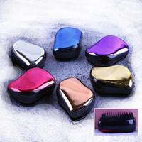 Wholesale Hair Loss Comb - detangler handle detangling comb shower hair comb hair brush to scalp massage to prevent hair loss