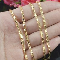 Wholesale Gift Size Inch - 8 Sizes Available Gold Color Slim Box Chain Necklace Womens Mens Kids 16 18 20 22 24 26 28 30 inch Jewelry kolye collares
