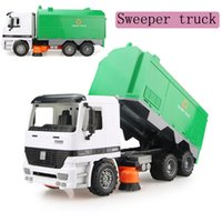 Wholesale Non toxic ABS Plastic high quality performance inertia sweep truck simulation toy vehicle friction car model juguetes toys gift for kids