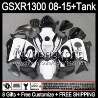 Wholesale Hayabusa Corona Fairing - 8gifts CORONA white For SUZUKI Hayabusa GSXR1300 08 15 GSXR-1300 14MY35 GSXR 1300 GSX R1300 08 09 10 11 12 13 14 15 CORONA white Fairing Kit