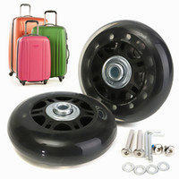 Wholesale Replacement Luggage Wheels - 2pcs Luggage Suitcase Replacement Wheels Axles Deluxe Repair OD 70mm