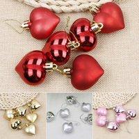 ingrosso decorazioni rosa di forma cuore-4 colori 6pcs decorazione di Natale appesa a forma di cuore alberi di natale ornamenti prop festa di nozze home decor mayitr vendita calda