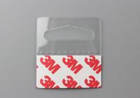 klebehaken großhandel-Verpackungsaufhänger PVC-PET-Hängelaschen Haken auf Merchandise-Paket Box Bag Hangers Peghooks Anzeige J-Haken Selbstklebend