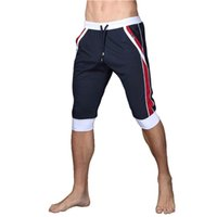 Wholesale Sports Casual Wear - Summer leisure Sporting shorts men trousers elastic brand men shorts Gyms mens fashion quick dry outer wear trousers at home