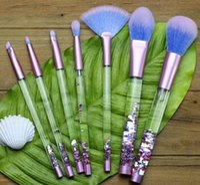 Wholesale Flowing Hair - New Liquid Flash 7 Set Cosmetic Brush Flow Flash Makeup Brush Fantasy Mermaid palette eyeshadow Crystal makeup brush